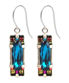 Indicolite Crystal Earring 6810 - Firefly Jewelry $52.50