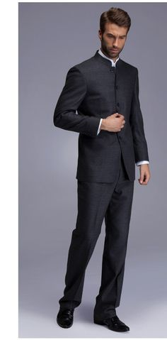 All the boys in this one :) Autumn & Winter Asian Tunic Suit Blazer