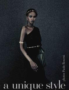 Black dress and gold accessories