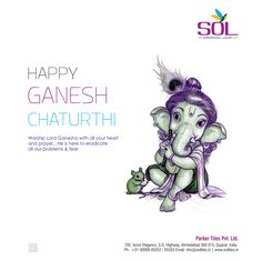 Worship lord Ganesh with all your heart and prayer...he is here to eradicate all our problems & fear. HAPPY GANESH CHATURTHY!  #ganesha #ganeshchaturthi #ganes #lord #bappamorya #chaturthi #2k16 #lordganesha #vinayaka #shriganesha #soltiles