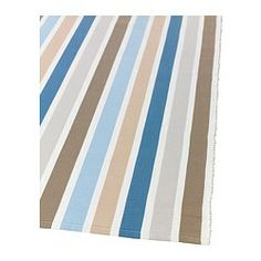 "EMMIE Rug, flatwoven - 2 ' 0 ""x2 ' 7 "" - IKEA. Color much better in person, taupe stripe not as orange. Wish this was available in larger sizes."