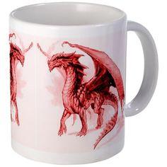 Red Dragons Mug on CafePress.com