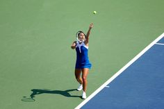 Dominika Cibulkova (SVK)[13] in action against Roberta Vinci (ITA)[20] in the third round of the US Open. - Andrew Ong/USTA