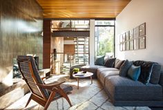 A House with Mid-Century Modern and Italian Influences