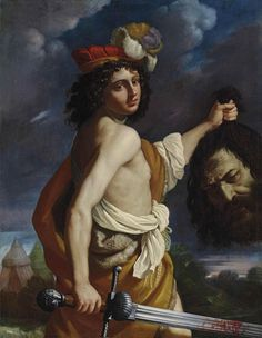 David with the head of Goliath by Benedetto Gennari in Old Master Paintings Part I on January 2015 at the null null sale lot 18 Piero Manzoni, Max Beckmann, Cain And Abel, David And Goliath, St Sebastian, Sacred Art, Old Master, Michelangelo, Top Artists
