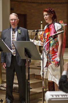 """Probably my favorite moment of the ceremony.  I sang """"Irish Blessing"""" with my grandfather who is a barbershop singer.  We picked this song to pay tribute to my other late grandfather on my dad's side who was Irish.    Photography by  http://www.duvalweddings.com/"""