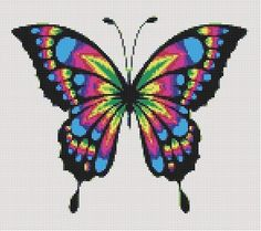 Butterfly Cross Stitch, Butterfly Embroidery, Butterfly Pattern, Bead Loom Patterns, Beading Patterns, Embroidery Patterns, Bracelet Patterns, Cross Stitch Charts, Cross Stitch Designs