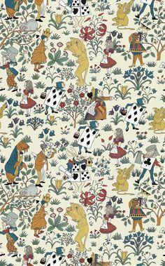 Papier peint Alice In Wonderland
