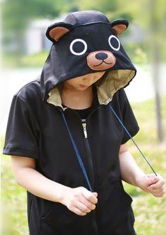Black Bear Animal Hoodie - 4kigurumi.com  http://www.4kigurumi.com/black-bear-animal-hoodie