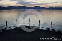 Pier at a mountain lake