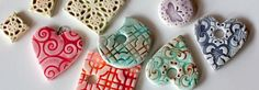 A simple tutorial for making polymer clay beads that look like kiln-fired ceramics..