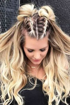 24 Super Easy Quick hairstyles for all hair lengths 24 Super E . - 24 super easy quick hairstyles for all hair lengths 24 super easy quick hairstyles for all hair lengths # hairstyles for every length # bun for long hair Medium Hair Styles, Curly Hair Styles, Hair Medium, Braided Long Hair Styles, Easy Hair Styles Quick, Side Braid Hairstyles, Hairstyle Ideas, Cute Hairstyles For Medium Hair, Short Hairstyles