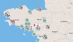 Carte des fablabs de Bretagne