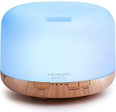 ASAKUKI Premium, Essential Oil Diffuser, 5 In 1 Ultrasonic Aromatherapy Fragrant Oil Humidifier Vaporizer, Timer and Auto-Off Safety Switch, 7 LED Light Colors Diluting Essential Oils, Best Essential Oil Diffuser, Essential Oils Cleaning, Lemon Essential Oils, Peppermint Essential Oil Benefits, Thieves Oil Recipe, Thieves Spray, Oil Vaporizer, Plant Therapy Essential Oils