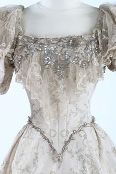 Evening dress ca. 1895                                                                                                                                                      More