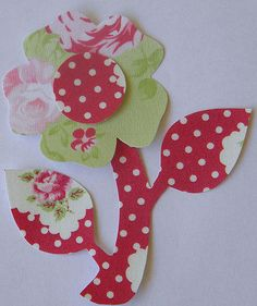Green Darla Rose Iron or Sew On Flower Applique from theappliquefinery on etsy.com.