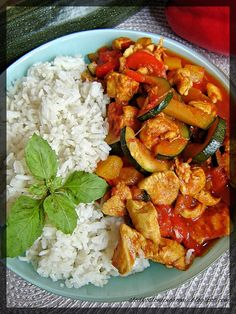 Asian Recipes, Ethnic Recipes, Polish Recipes, Paella, Poultry, Curry, Food And Drink, Tasty, Lunch
