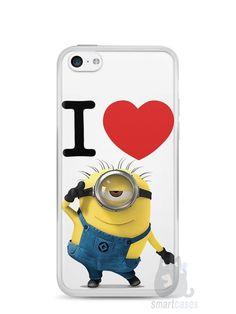 Capa Iphone 5C I Love Minions - SmartCases - Acessórios para celulares e tablets :)