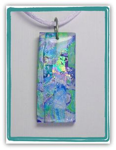 Purple Heather Pendant Faux Dichroic , polymer clay jewelry. Sherri Kellberg