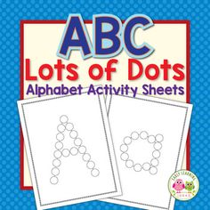 Alphabet activities and fine motor fun.  ABC dot activity sheets can be used in a variety of ways to help kids learn letter recognition and letter formation while strengthening fine motor skills. This set is appropriate for preschool, pre-k, kindergarten, RTI, SPED or homeschool classrooms.   They work great in ELA centers,  literacy centers, and literacy work stations ...