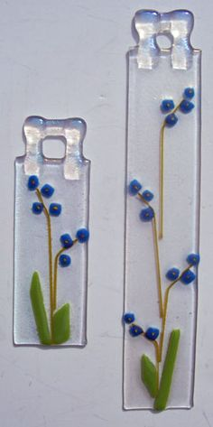 forget-me-nots Love the self hanging technique