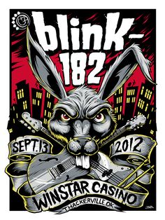 Blink 182. Gig poster illustration style
