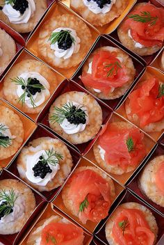 Salmon and caviar blinis