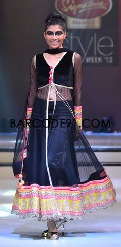 http://www.barcode91.com/ Seema Singh collection with neon colors at Signature Premier Pune Style Week 2013