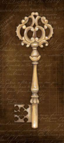 Antique Key I by Stephanie Marrott...would be nice tatoo!