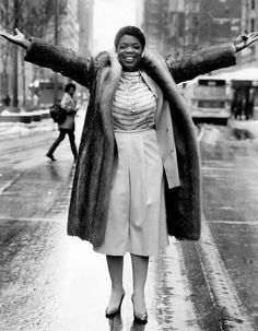 "Oprah Winfrey, the host of ""AM Chicago"", poses for a photo on State Street in Chicago, Illinois, Jan. 2, 1984"