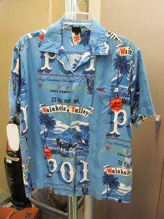 Aloha print shirt made in the 1960's by brand Hawaiian Holiday