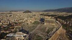 Drone Flight around Acropolis Athens, Greece