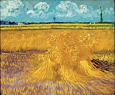 Vincent van Gogh, Wheat Field, 1888, oil on canvas, 21 3/4 x 26 1/4 in. (55.2 x 66.7 cm)