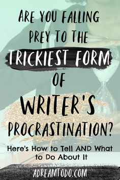 Are you falling prey to the trickiest form of writer's procrastination? Here's how to tell: You've been working on your novel/ blog/ article/ writing project forever, but you've barely made a dent. You don't want to start writing until you've done research. You have a bunch of ideas, but no complete drafts. You often lose …