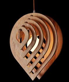 Wooden Water Drop Lamp Pendant Lighting