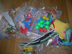 Church bag for toddlers - choose 2 bags each week, keeps them occupied with quiet toys they haven't seen before!