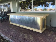 Pricing is for Florida Purchases only. This beautiful bar is designed to be outside, or inside, and last for years. The design fits well with