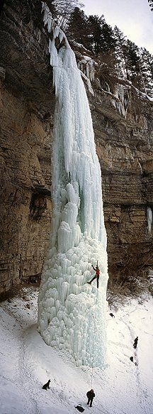 (The Fang waterfall in Vail, Colorado, USA) ice climbing. Ice climbing is really fun to watch in Ouray, Colorado too What A Wonderful World, Beautiful World, Beautiful Places, Amazing Places, Oh The Places You'll Go, Places To Travel, Places To Visit, Travel Destinations, Vail Colorado