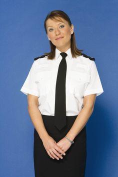County Jail, Shirt Blouses, Shirts, British Actresses, Cops, Maid, Police, Feminine, Celebs