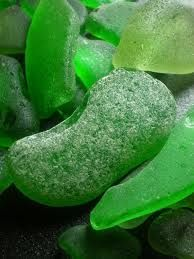 Shades of Green Sea Glass.