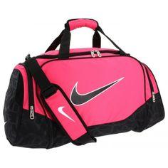 fa02dc27d980 Nike Brasilia 5 Pink and Black Medium Duffel Bag at orlandotrend.com   OrlandoTrend