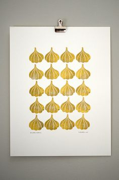A Garlic print? Perfect for my kitchen!  Funnel Cloud Studio