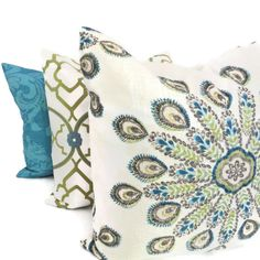 Yellow and Gray Suzani Pillow Cover 18x18 20x20 or by PopOColor, $45.00