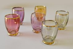 Vintage Harlequin by KnockLoudVintage on Etsy Shot Glasses, Glass Collection, Unique Jewelry, Handmade Gifts, Tableware, Etsy, Vintage, Beautiful, Kid Craft Gifts