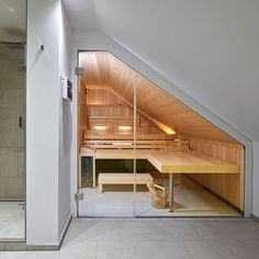 Sauna House, Sauna Room, Basement Bar Designs, Closet Designs, Interior Design Videos, Sauna Design, Loft Bathroom, Internal Design, Deck Stairs