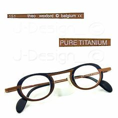 88c554fd5cc theo wexford Titanium Eyeglasses Rx Eyewear - Made in Belgium - New  Authentic on eBay!
