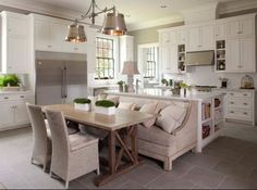 modern kitchen island with seating - Google Search