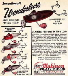 Nifty 1950s Makinen tackle ad.