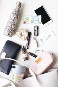 A peak inside the purse of a busy mom