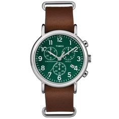 Inspired by the iconic military watch, Timex's Chrono Oversized is a classically…